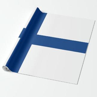 Finnland-Flagge Geschenkpapier