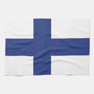 Finnland-Flagge Geschirrtuch