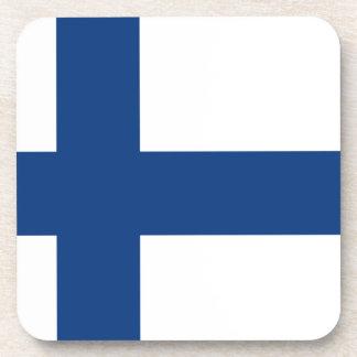 Finnland-Flagge Getränkeuntersetzer