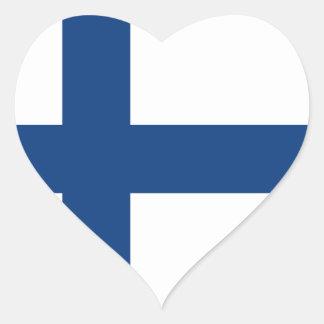 Finnland-Flagge Herz-Aufkleber