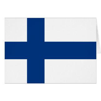 Finnland-Flagge Mitteilungskarte