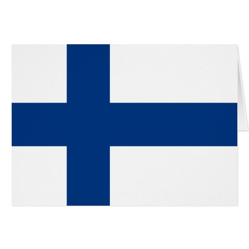 Finnland-Flagge Karte
