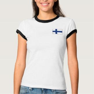 Finnland-Flagge + Karten-T - Shirt