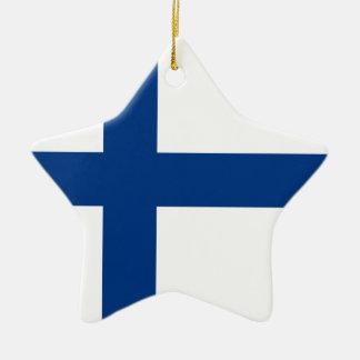 Finnland-Flagge Keramik Ornament