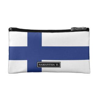 Finnland-Flagge Kosmetiktasche