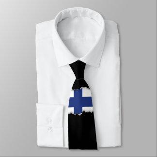 Finnland-Flagge Krawatte