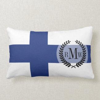 Finnland-Flagge Lendenkissen