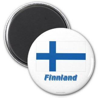 Finnland Flagge MIT Namen Kühlschrankmagnete