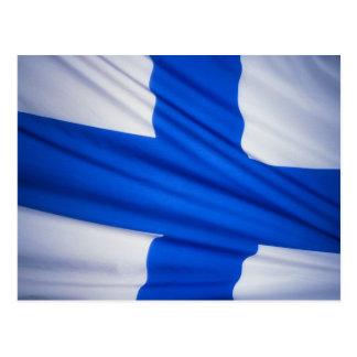 Finnland-Flagge Postkarte