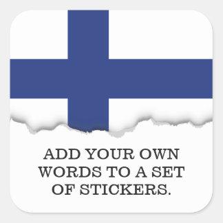 Finnland-Flagge Quadratischer Aufkleber