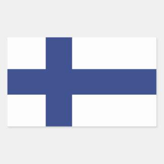 Finnland-Flagge Rechteckiger Aufkleber