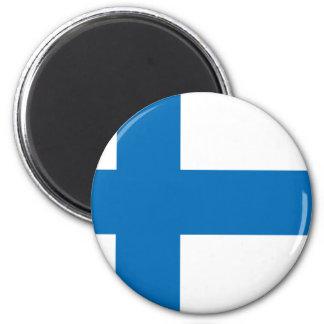 Finnland-Flagge Runder Magnet 5,1 Cm