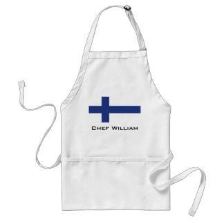 Finnland-Flagge Schürze