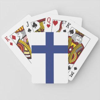 Finnland-Flagge Spielkarten