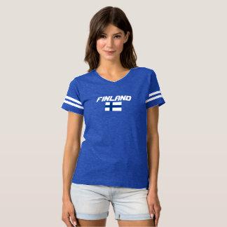 Finnland-Flaggen-Gewohnheits-Shirt T-shirt