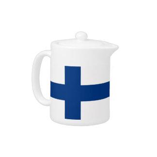 Finnland-Flaggen-Teekanne