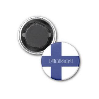 Finnland-Flaggenmagnet Runder Magnet 3,2 Cm