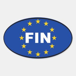 Finnland - FLOSSE - europäische Gewerkschaft Ovaler Aufkleber