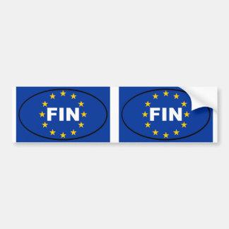 Finnland - FLOSSE - europäisches Gewerkschaftsoval Autoaufkleber