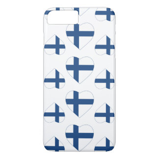 FINNLAND-HERZ-FORM-FLAGGE iPhone 8 PLUS/7 PLUS HÜLLE