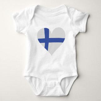 Finnland-Herzikone Baby Strampler