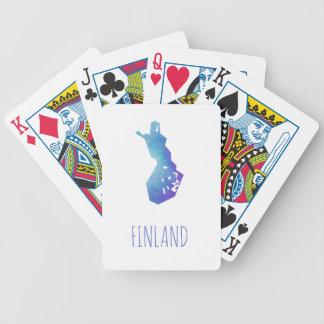 Finnland-Karte Bicycle Spielkarten