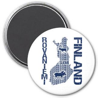 FINNLAND-KARTEN-Magnet - Rovaniemi Runder Magnet 7,6 Cm