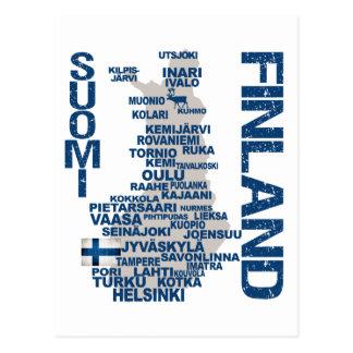 FINNLAND-KARTEN-Postkarte