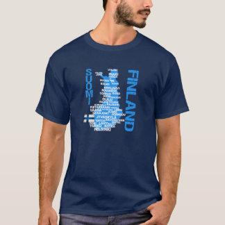 FINNLAND-KARTEN-Shirt - wählen Sie Art u. Farbe T-Shirt