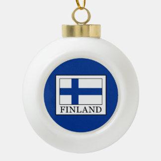 Finnland Keramik Kugel-Ornament