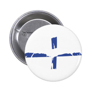 Finnland-Lippenstiftflagge suomi Runder Button 5,7 Cm