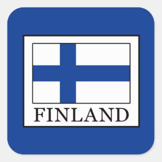 Finnland Quadratischer Aufkleber
