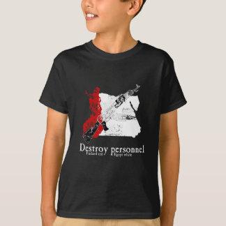 Finnland-Rot, Ägypten-Weiß T-Shirt