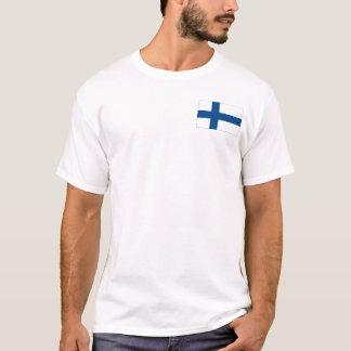 Finnland SISU + Flaggen-erstklassiger weißer T - T-Shirt