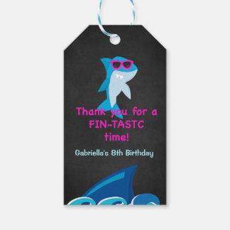 Fintastic Zeit… Mädchen-Haifisch danken Ihnen Geschenkanhänger
