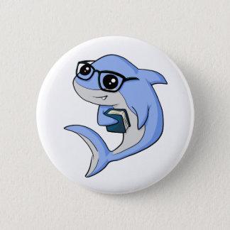 """""""Fintellectual"""" Haifisch! Runder Button 5,7 Cm"""