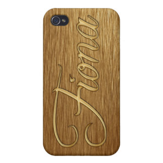 FIONA Name eingebrannte iPhone Abdeckung Etui Fürs iPhone 4