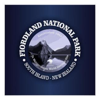 Fiordland Nationalpark Poster