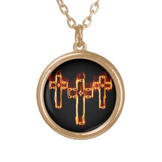 Fire cruzes halskette mit rundem anhänger