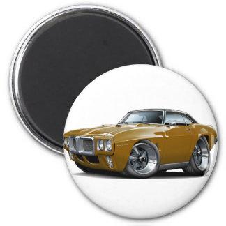 Firebird Brown-Schwarzes Spitzenauto 1969 Runder Magnet 5,7 Cm