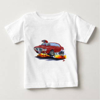 Firebird kastanienbraunes Auto 1969 Baby T-shirt