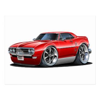 Firebird Rot-Auto 1968 Postkarte