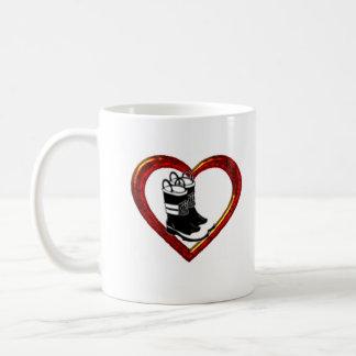Firefighters_Wife, Herz, Stiefel, verheiratet zu, Kaffeetasse