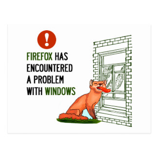 Firefox hat auf ein Problem mit Fenstern gestoßen Postkarte