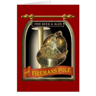 Firemans Pole Kneipen-Zeichen Karte