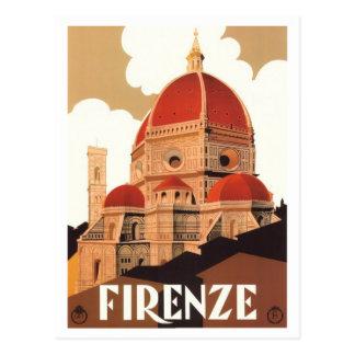 Firenze-Plakat-Postkarte Postkarte