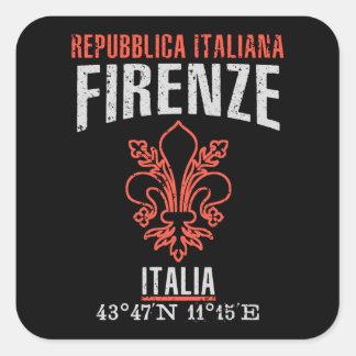Firenze Quadratischer Aufkleber