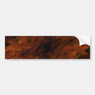 Firery abstrakter autoaufkleber