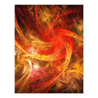Firestorm-Nova-abstrakter Kunst-Flyer