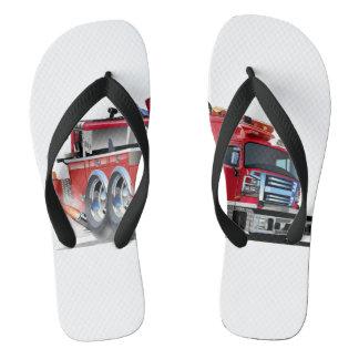 Firetruck Burnout Flip Flops